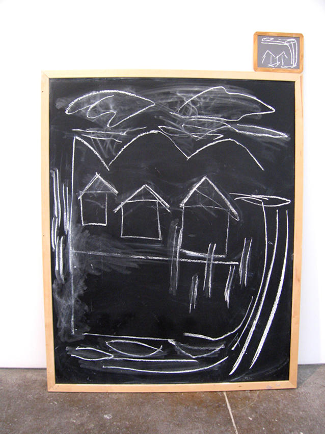Joan Jonas Untitled 2005 chalkboard