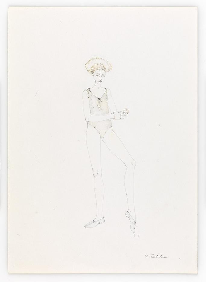 Green Dancer 2010 Pencil on paper 16.54 x 11.69 inches