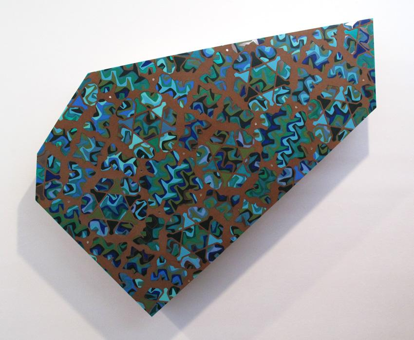 Untitled 2010 MDF and acrylic 70 x 52 inches