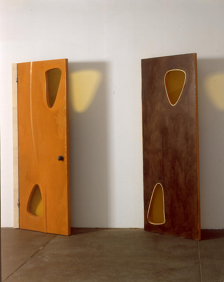 Untitled (doors) 2004 painted MDF, Plexiglas 91.5 x 70 inches/232.4 x 177.8 cm
