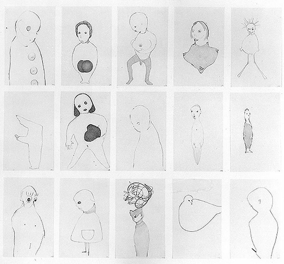 Group# 8 1994 graphite on paper, set of 15 drawings 30.5 x 33.5 inches/77.5 x 85.1 cm