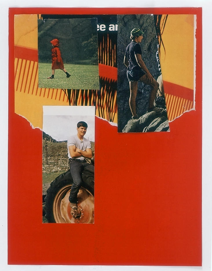 Untitled 2004 collage 11.81 x 8.9 inches/30 x 22.6 cm