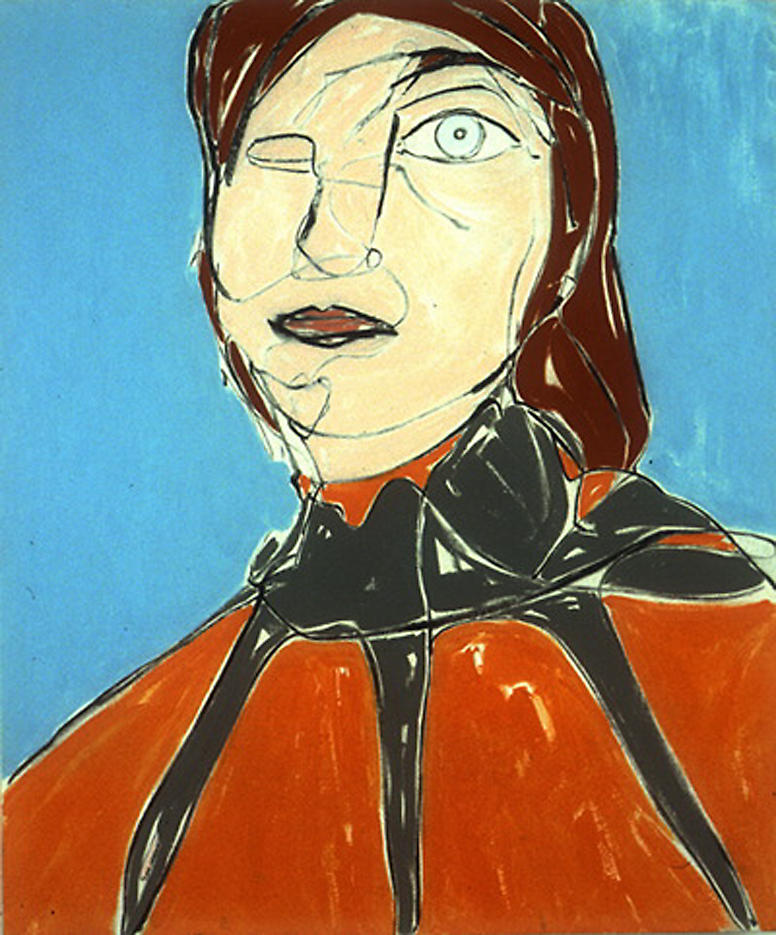 Head 1999 acrylic on canvas 35 x 42 inches/106.7 x 88.9 cm