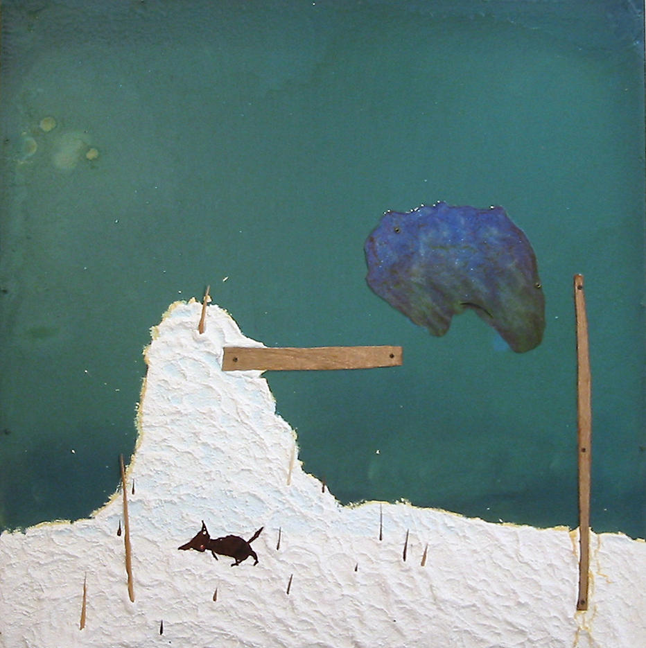 Untitled							 2002 mixed media on panel 48 x 48 inches/121.9 x 121.9 cm