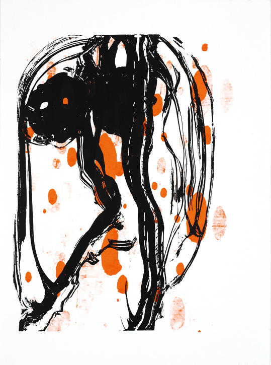Untitled 2007 silkscreen on acrylic paint on paper 30.125 x 22.5 inches/76.5 x 57.2 cm