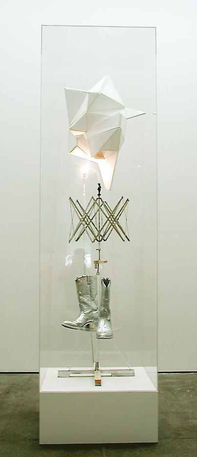 Merkur 2003 mixed media 98.5 x 27.5 x 27.5 inches/250.2 x 69.9 x 69.9 cm