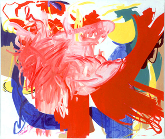 Charline von Heyl Untitled (1/100), II 2000 oil on canvas