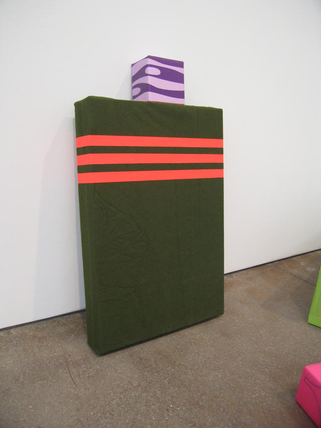 To Hao and Phung in Green and Purple 2006 mahogany plywood, silkscreen on paper, tape, felt, Lincoln High Navel Academy gold ring, family photo