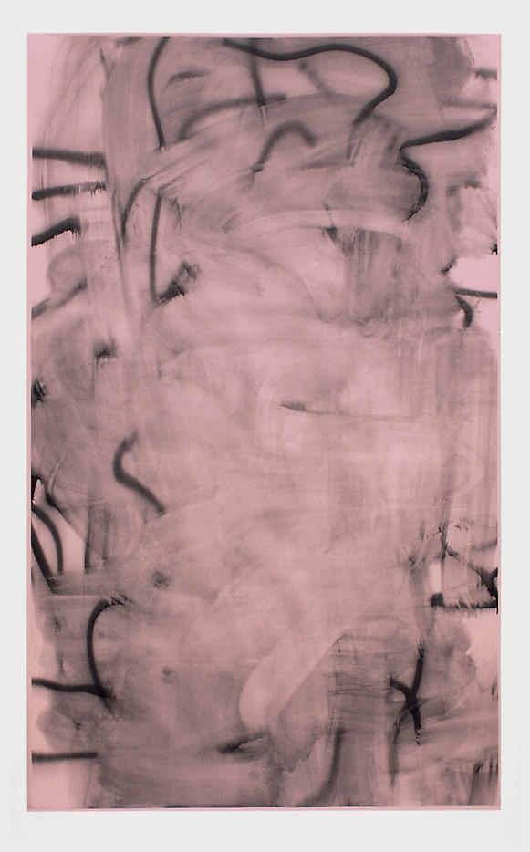 Christopher Wool: Three Women (Image I – light rose) 2006, edition of 9, 3 AP silkscreen on saunders watercolor paper 410g 81.5 x 50 inches/207 x 127 cm