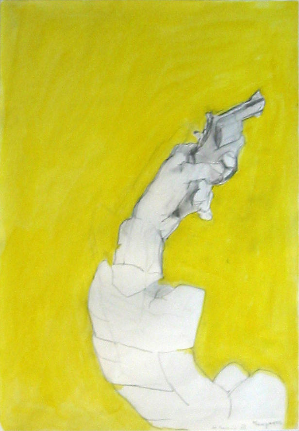 Manpower 1983 pencil and watercolor on paper 24 x 16.75 inches/61 x 42.5 cm