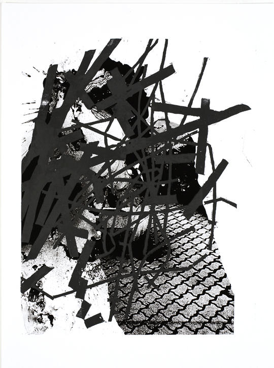 Untitled 2007 woodcut on digital on paper 30 1/8 x 22 1/2 inches/76.5 x 57.2 cm