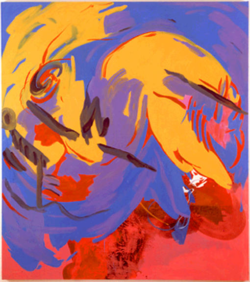 Charline von Heyl Untitled (1/00), I 2000 oil on canvas