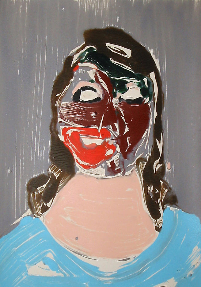 Portrait Head #10 2002					 acrylic on paper 20 x 14 inches/50.8 x 35.6 cm