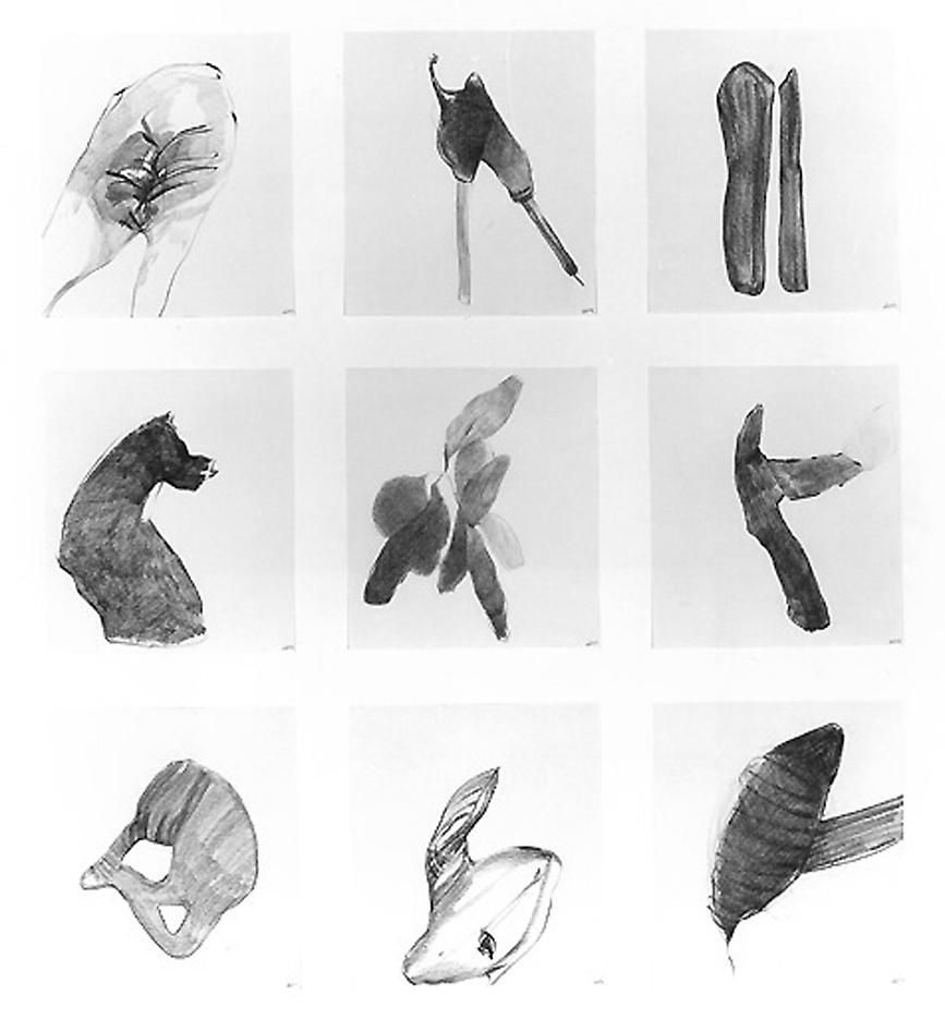Group #53 1999 set of 9 drawings, graphite on paper 32 x 28 inches/81.3 x 71.1 cm