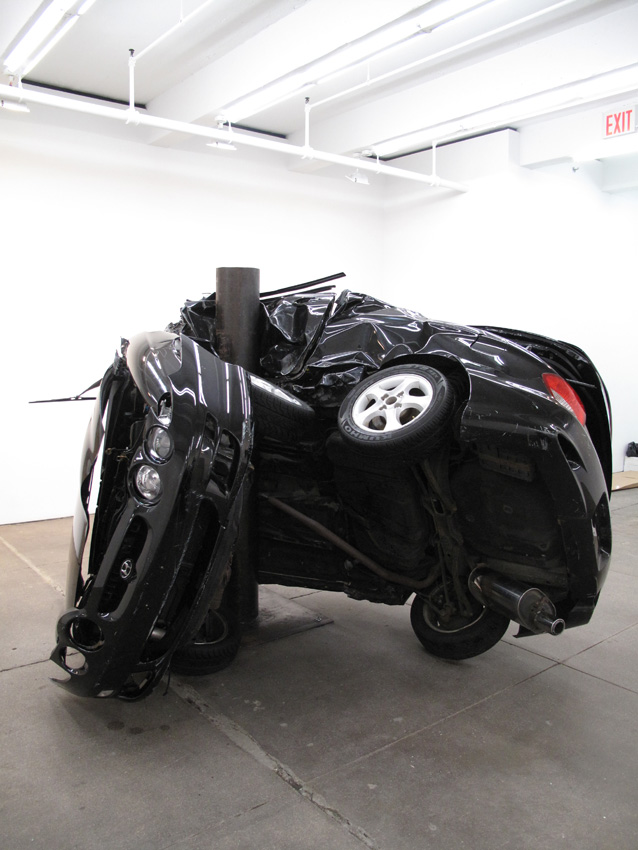 Dirk Skreber Untitled (Crash 2) 2009 Black Huyndai Tiburon 2001