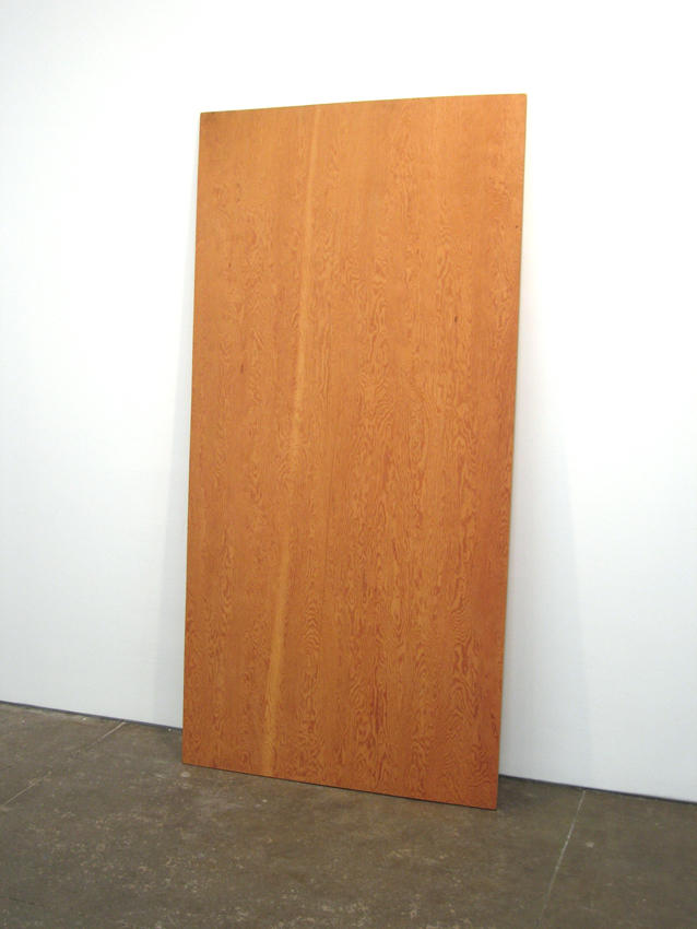 Robert Gober: Plywood 1987 laminated fir 94 x 47.5 inches/238.8 x 120.7 cm
