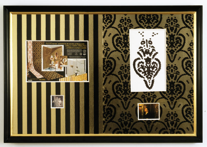 Bremen Towne - Flocked Wallpaper Collage 2008 various material framed: 36 x 51.25 x 2 inches/91.4 x 130.2 x 5.1 cm