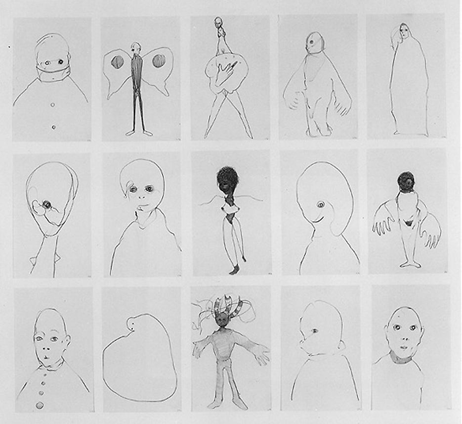 Group# 10 1994 graphite on paper, set of 15 drawings 30.5 x 33.5 inches/77.5 x 85.1 cm