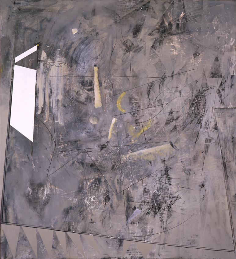Charline von Heyl Miserabilism #1 2012 oil, acrylic and charcoal on canvas 86 x 78 inches 218.4 x 198.1 cm