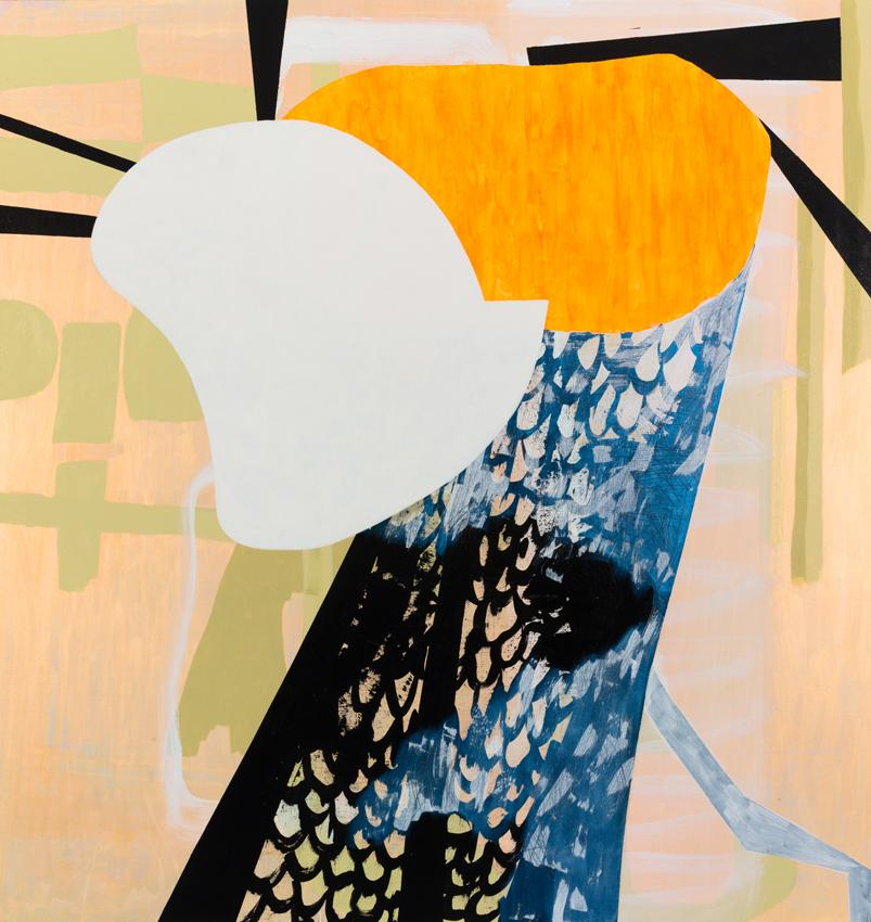 Charline von Heyl Pancalist 2012 Acrylic on canvas 82 x 78 inches 208.3 x 198.1 cm
