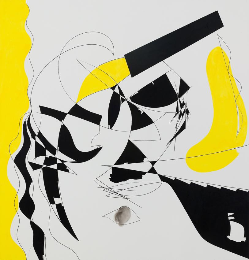 Charline von Heyl Done Got Old 2012 Acrylic on canvas 78.5 x 82 inches 199.4 x 208.3 cm