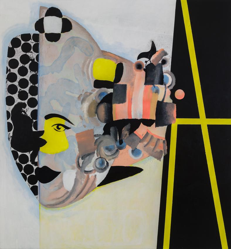 Charline von Heyl <i>Carlotta</i> 2013 Oil, acrylic and charcoal on canvas 82 x 76 inches 208.3 x 193 cm