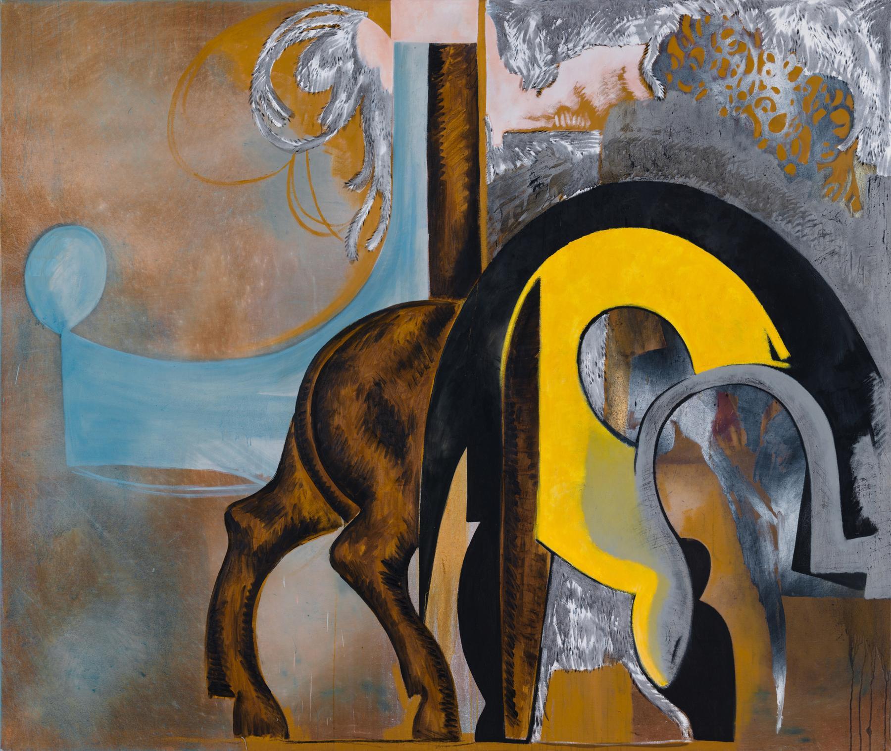 Charline von Heyl Untitled (2/95, II) 1995