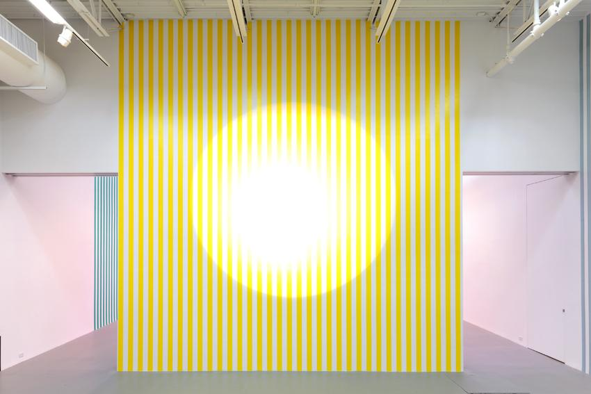 Projection, Work In Situ 2013 (Ref. Gerry Schum Group Exhibition at Louisiana Museum Humlebaek, January 1972) 1972/2013 printed paper white and yellow