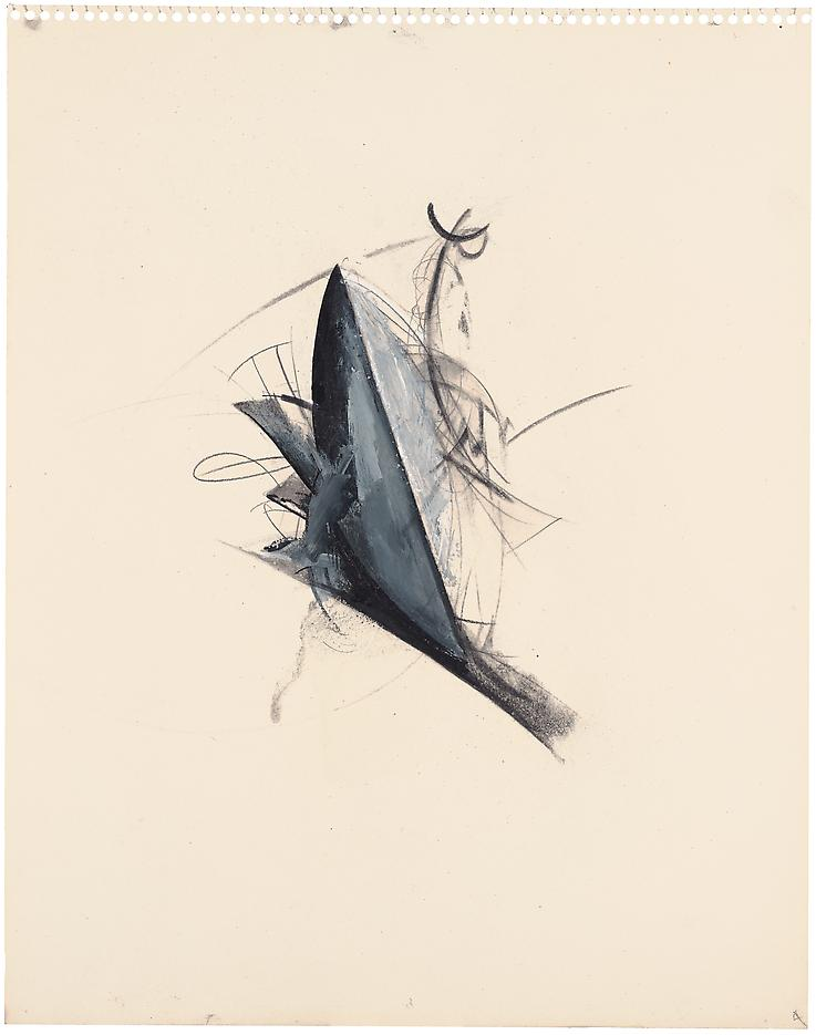 Jay DeFeo <i>Untitled (Jewelry series)</i> 1978 Graphite, charcoal and acrylic on paper  14 x 11 inches