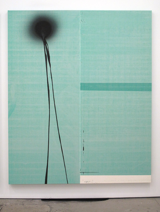 Wade Guyton and Stephen Prina Wade Guyton, Untitled 2012, Epson UltraChrome inkjet on linen Stephen Prina, PUSH COMES TO LOVE, Untitled, 1999-2012