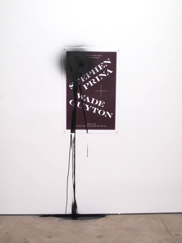 Stephen Prina and Joseph Logan PUSH COMES TO LOVE, Untitled, 1999-2012 Poster by Joseph Logan, 2012