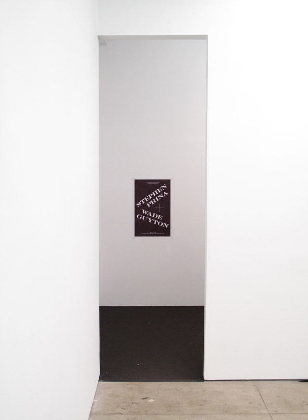 Wade Guyton and Stephen Prina Installation Friedrich Petzel Gallery  2012