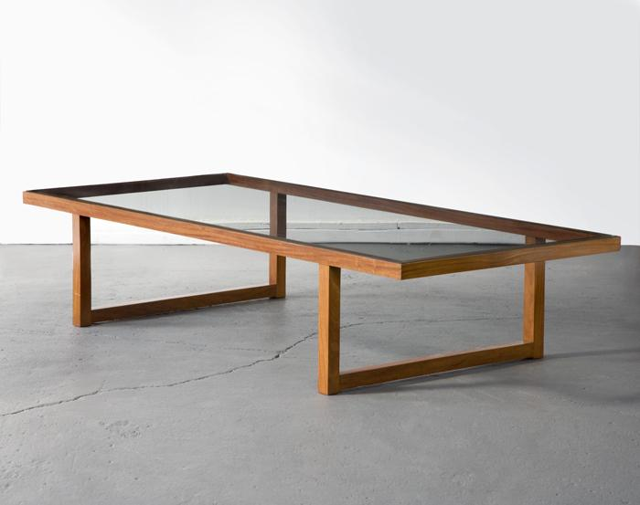 Joaquim Tenreiro <i>Coffee Table</i> 1947 Caviona wood and glass