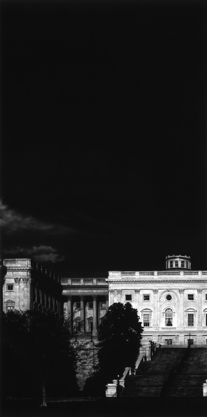 <i>Untitled (Capitol)</i> (Detail) 2012-2013  Charcoal on mounted paper 120 x 450 inches overall