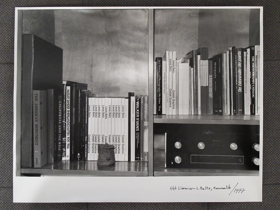 Thomas Barrow <i>F/T/S Libraries - L. Baltz, Sausalito</i> 1977 Gelatin silver print 11 x 14 inches