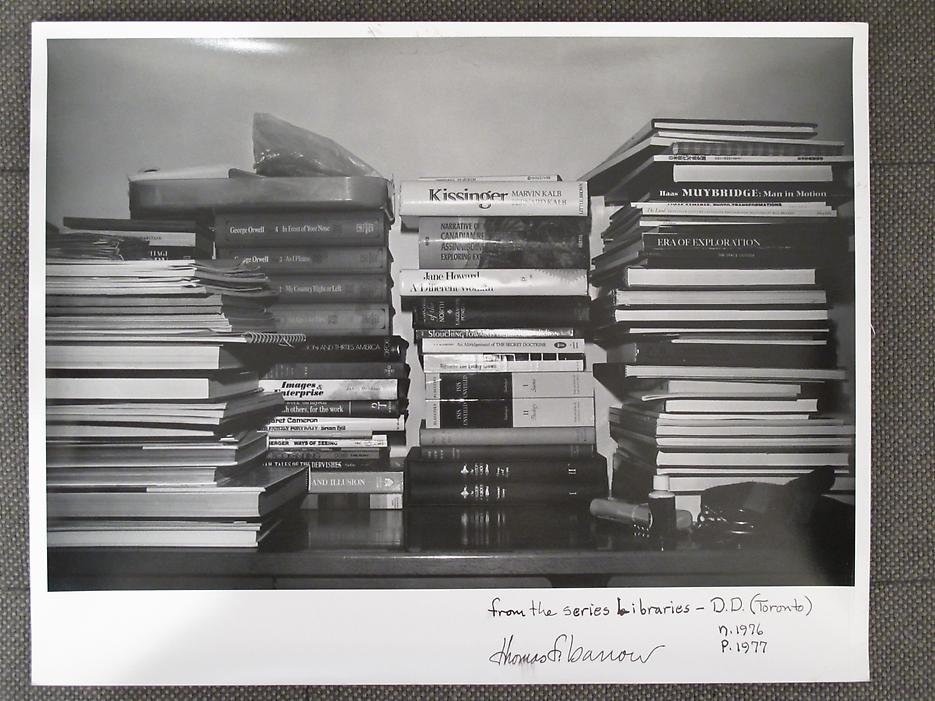 Thomas Barrow <i>F/T/S Libraries - DD (Toronto)</i> n. 1976, p.1977 Gelatin silver print 11 x 14 inches