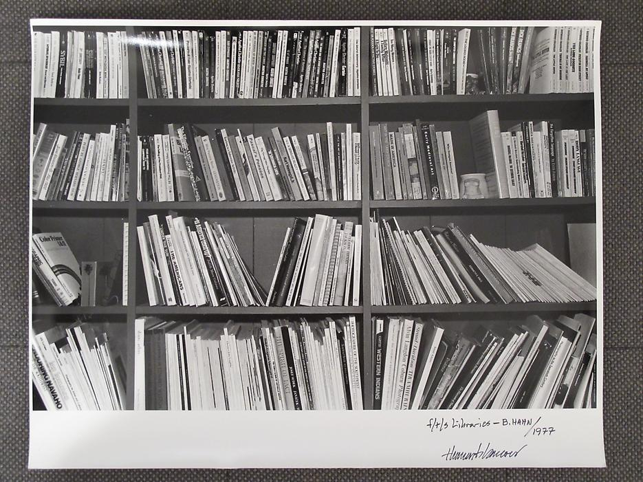Thomas Barrow <i>F/T/S Libraries - B. Hahn</i> 1977 Gelatin Silver Print 11 x 14 inches