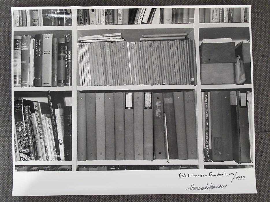 Thomas Barrow <i>F/T/S Libraries - Dan Andrews</i> 1977 Gelatin Silver Print 11 x 14 inches