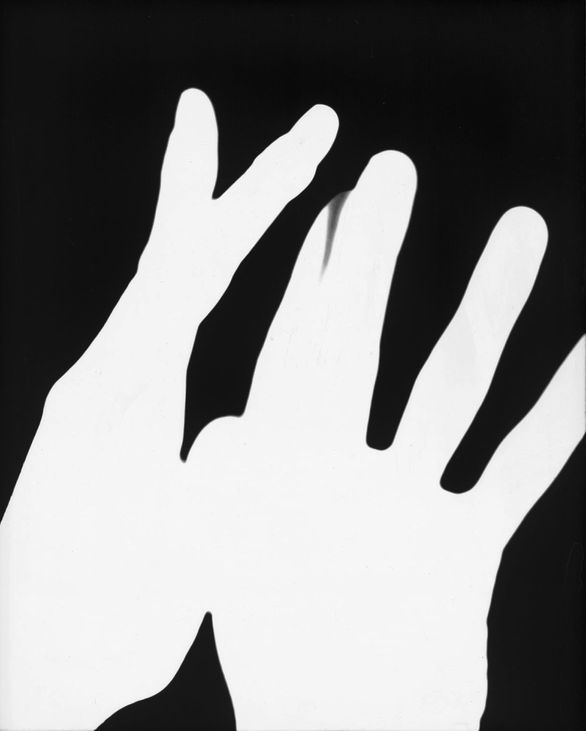 James Welling <i>Hands #1</i> 1975 Chromogenic exhibition print  18 1/2 x 16 inches, framed