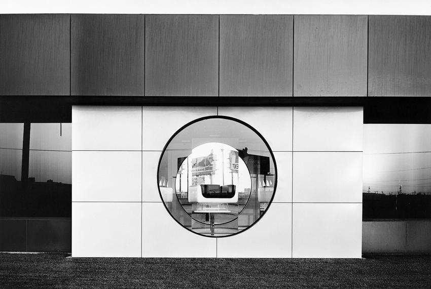Lewis Baltz <i>NIP #49: North Wall, Steelcase, 1123 Warner Avenue, Tustin</i> 1974 Vintage gelatin silver print 8 x 10 inches
