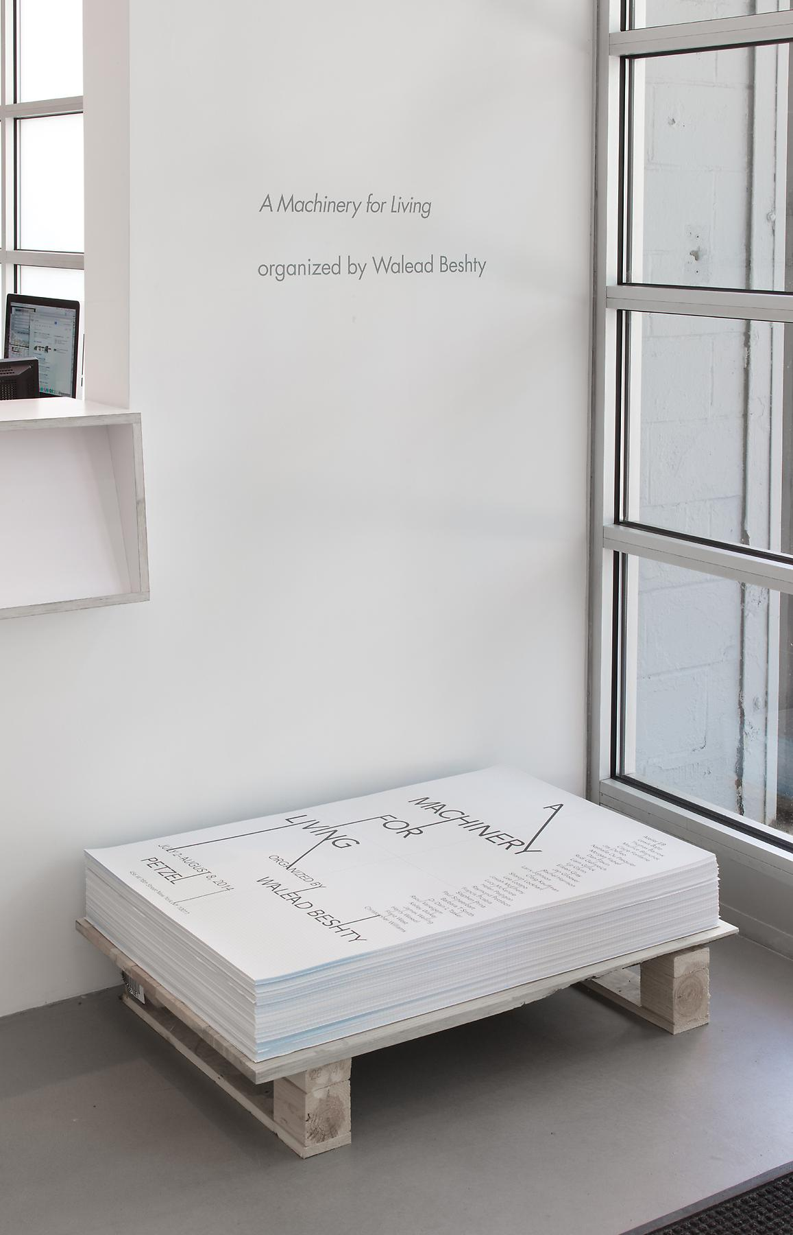 <i>A Machinery for Living</i> Installation view 1 2014
