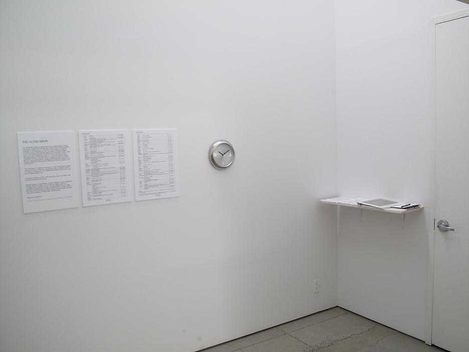 Installation view <i>The Audio Show</i> Friedrich Petzel Gallery 2009