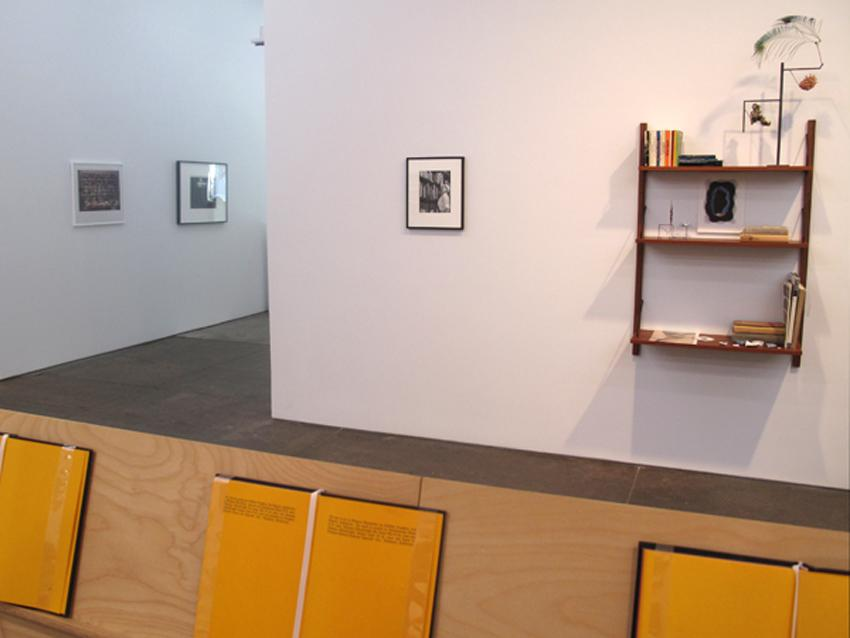 Installatin View 6 Front: Stephen Prina From left to right: Wolfgang Tillmans, Robert Longo, Cindy Sherman, Carol Bove