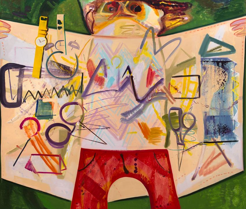 <i>Flasher</i> 2012 Oil on canvas 75 x 88 inches