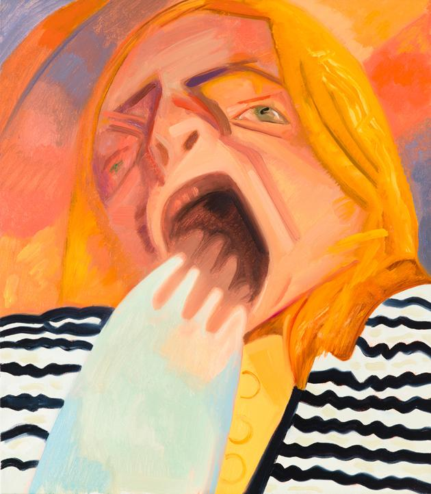 Yawn 2 2012 Oil on canvas 23 x 20 inches