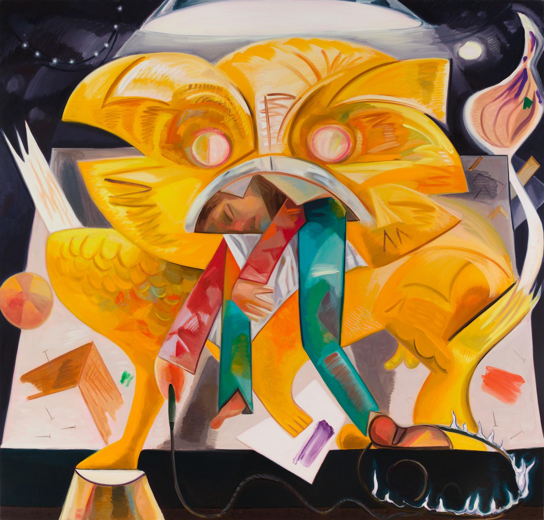 Dana Schutz Lion Eatings Its Tamer 2015
