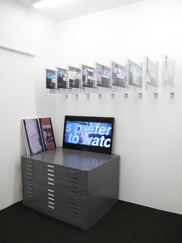 Installation Corporate Video Decisions Friedrich Petzel Gallery 2011
