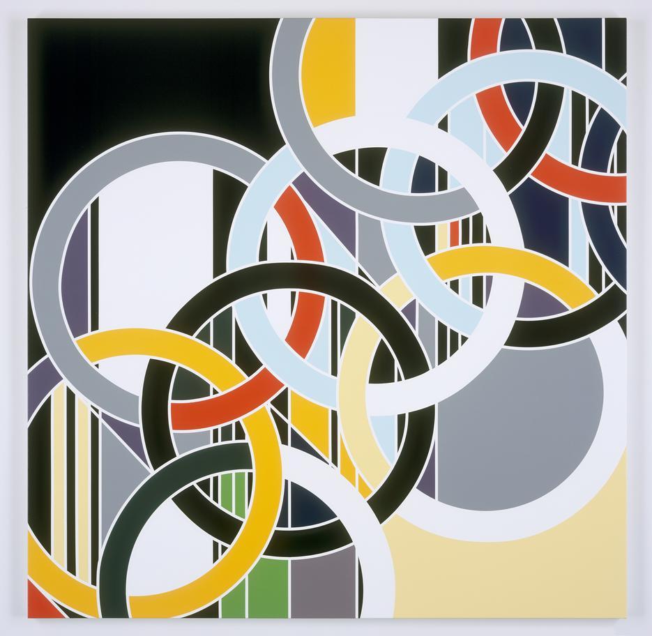 Sarah Morris Painting 1952 Rings 2006