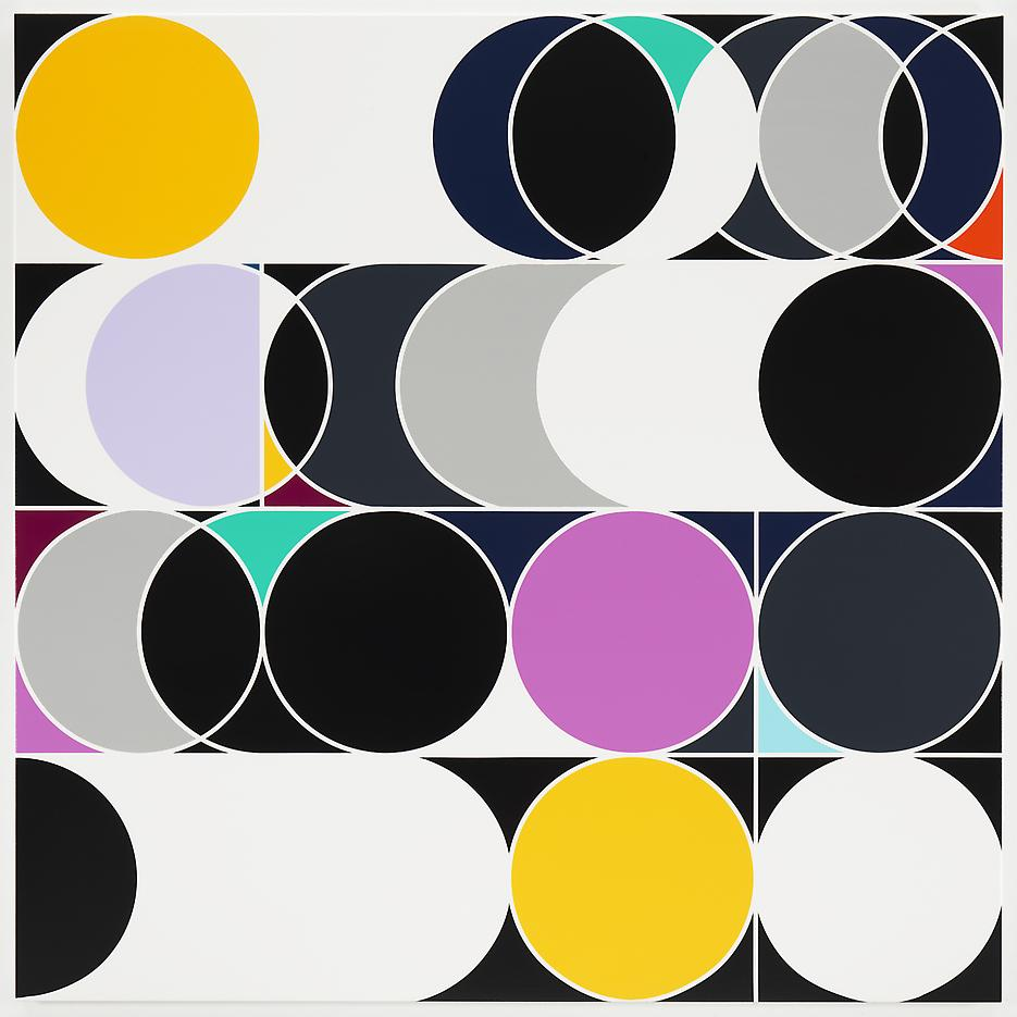 <i>Hybrid Solar Eclipse [Rio]</i> 2013 Household gloss paint on canvas 84.25 x 84.25 inches 214 x 214 cm