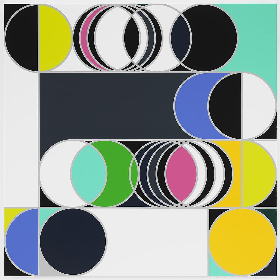 <i>Total Lunar Eclipse 2014 [Rio]</i> 2013 Household gloss paint on canvas 60.04 x 60.04 inches 152.5 x 152.5 cm